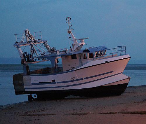 En bij laagwater liggen de boten op het droge.
